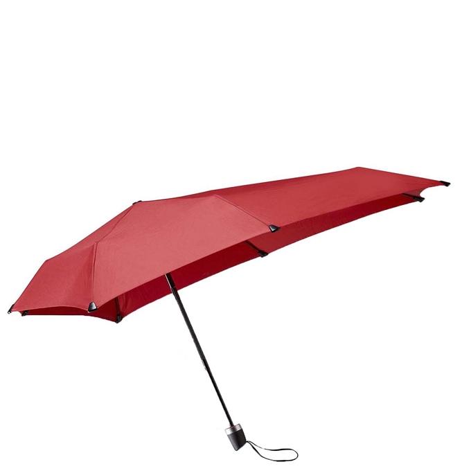 Senz Manual Opvouwbare Stormparaplu passion red