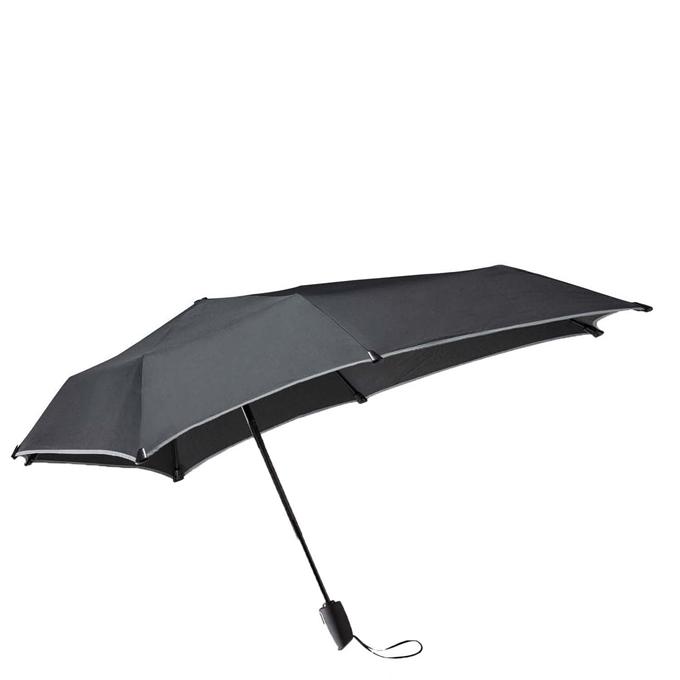 Senz Automatic Opvouwbare Stormparaplu black reflective