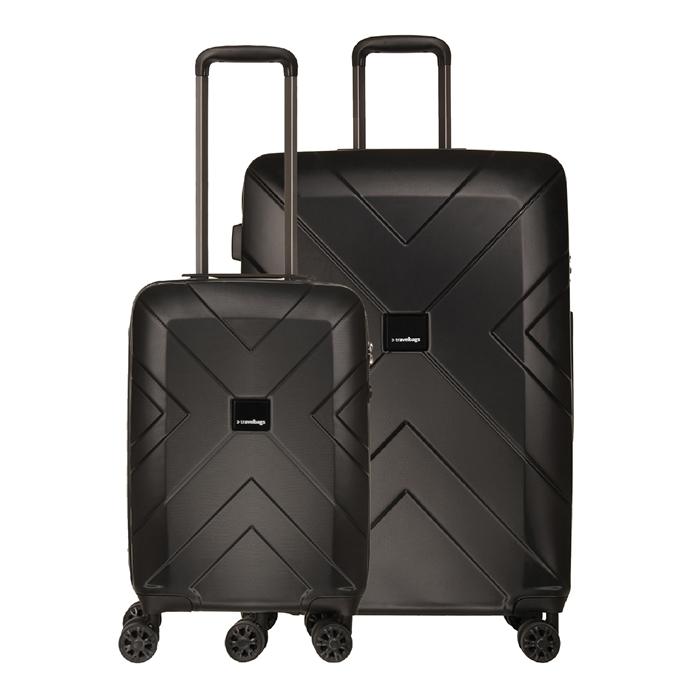 Travelbags Londen 2 Delige Trolley Set black - 1