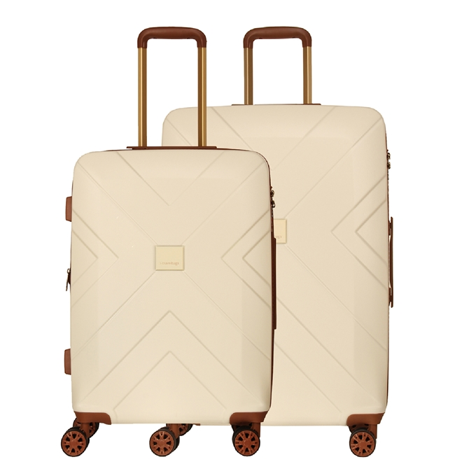 Travelbags Parijs 2 Delige Trolley Set off white - 1