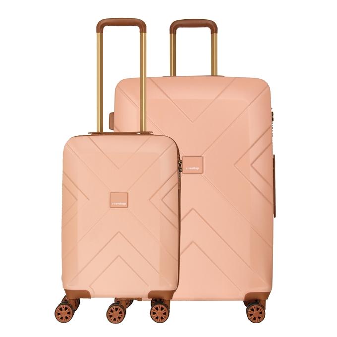 Travelbags Parijs 2 Delige Trolley Set pink - 1