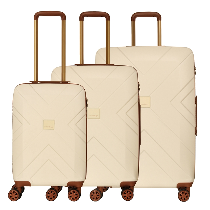 Travelbags Parijs 3 Delige Trolley Set off white