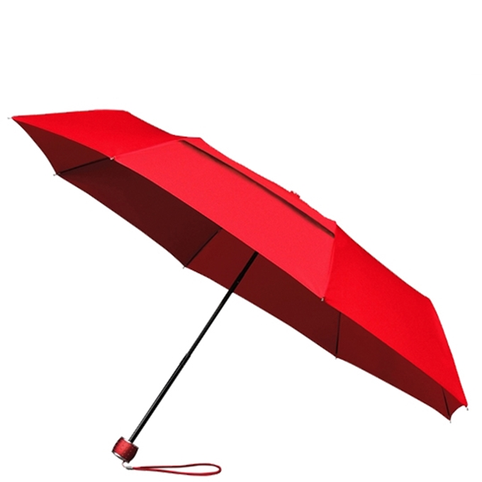 Impliva ECO Windproof Opvouwbare Paraplu red