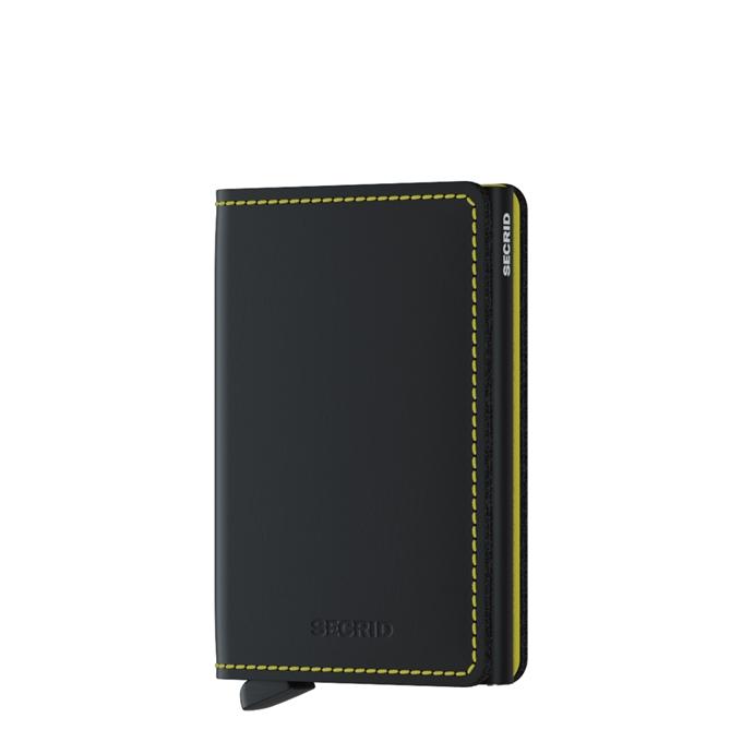 Secrid Slimwallet Portemonnee matte black & yellow - 1