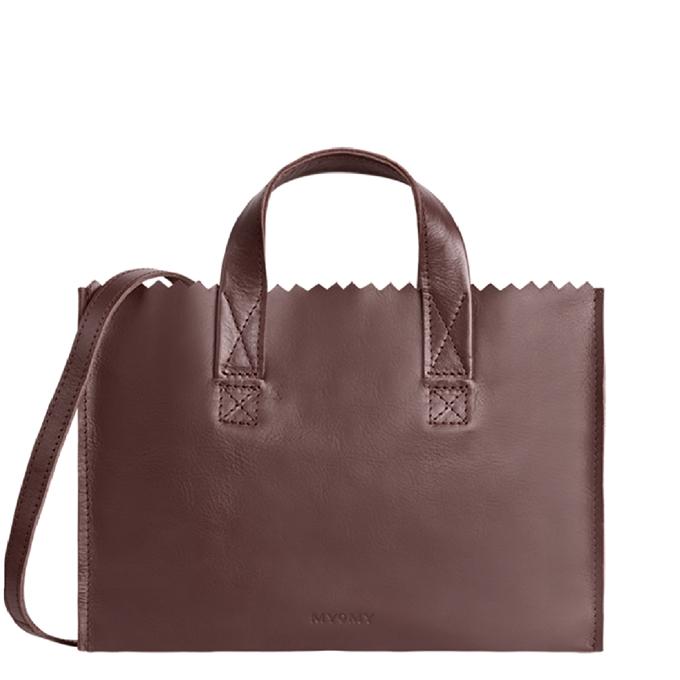 Myomy My Paper Bag Mini Handbag Cross-Body aubergine - 1