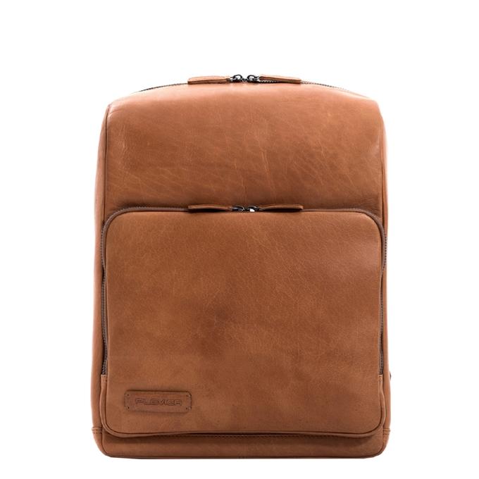 Plevier Slate Leren Laptop Rugzak 15,6'' cognac