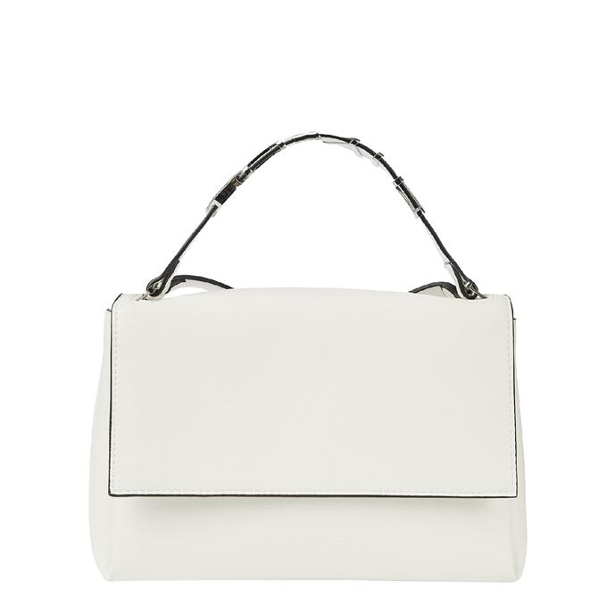 Calvin Klein Flap Shoulder Bag MD white