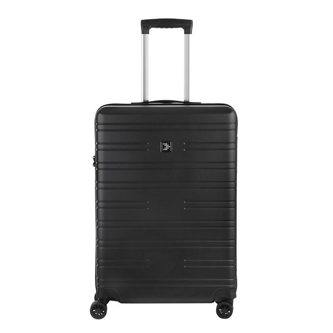 Travelbags Premium Koffer - 64 cm - 4 wielen - black - 1