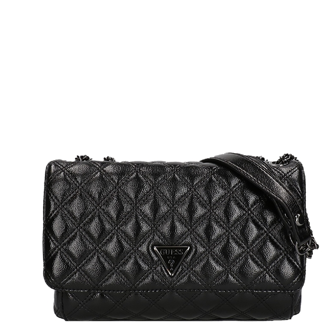 Guess Cessily Convertible Flap Crossbody black
