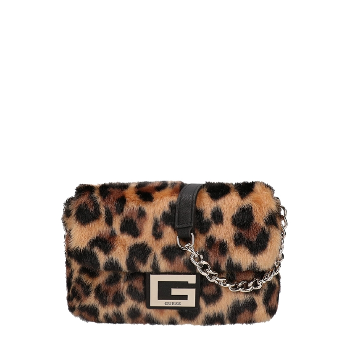 Guess Gwen Convertible Flap Crossbody leopard