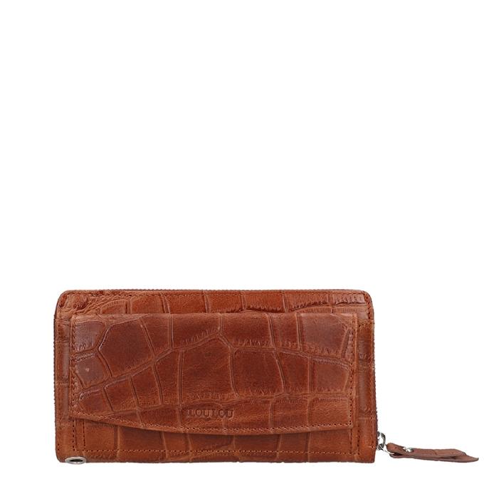 LouLou Essentiels Vintage Croco Wallet brown vintage croco