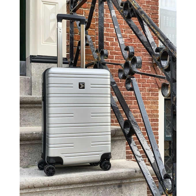Travelbags Premium Handbagage koffer - 55 cm - 4 wielen  - USB - silver - 1