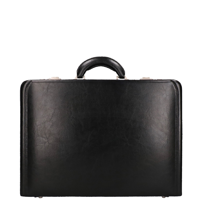 Dermata Business Leather Attaché zwart