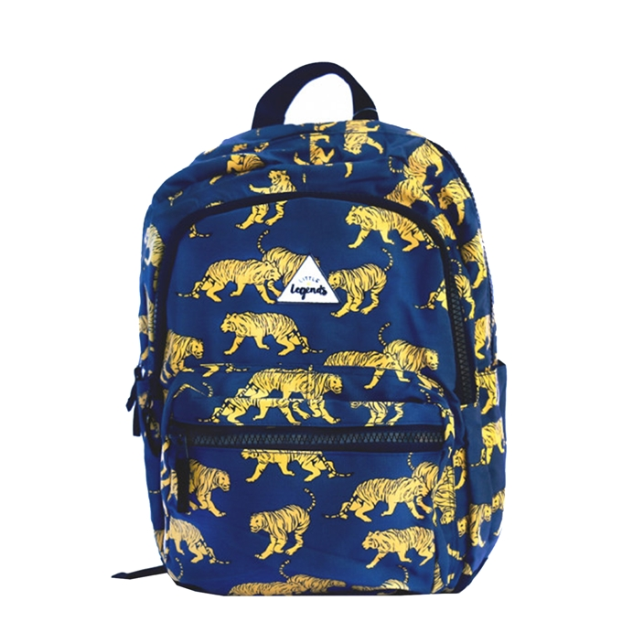 Little Legends Tiger navy blue Backpack L  donker blauw