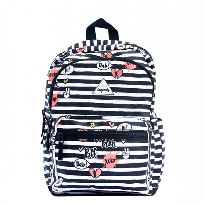 Little Legends BFF Backpack L zwart/wit/roze