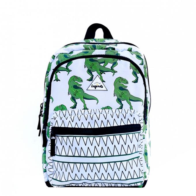 Little Legends Dino Backpack L groen / wit