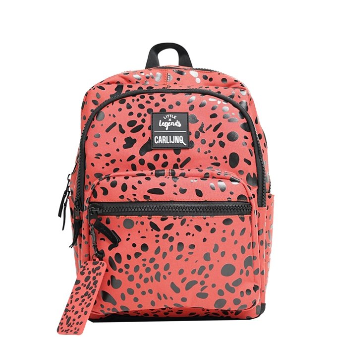 Little Legends x CarlijnQ Spotted Animal Backpack roestbruin/rood