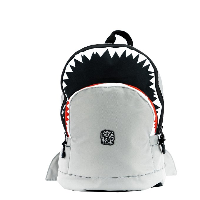 Pick & Pack Shark Shape Backpack M grey - 1