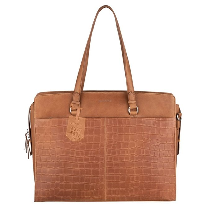 Burkely Croco Caia Workbag 15.6'' cognac