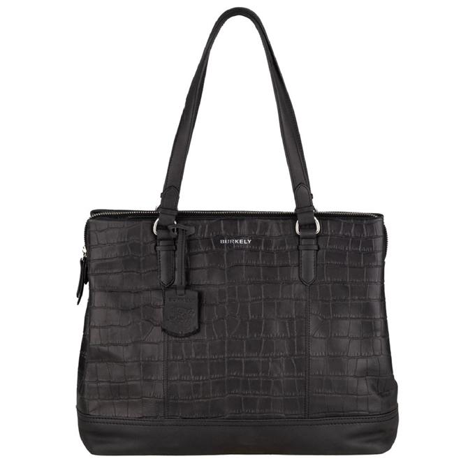 Burkely Croco Caia Handbag M 13.3'' black