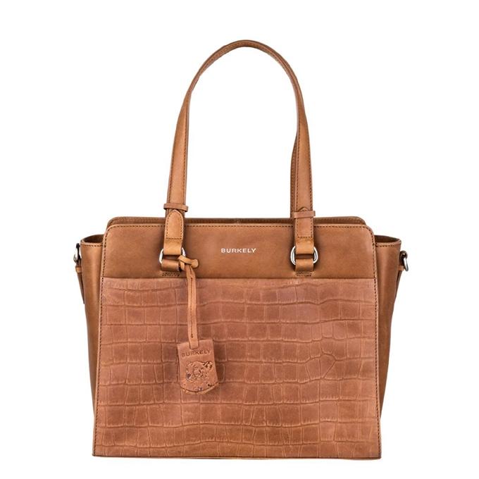 Burkely Croco Caia Handbag S cognac
