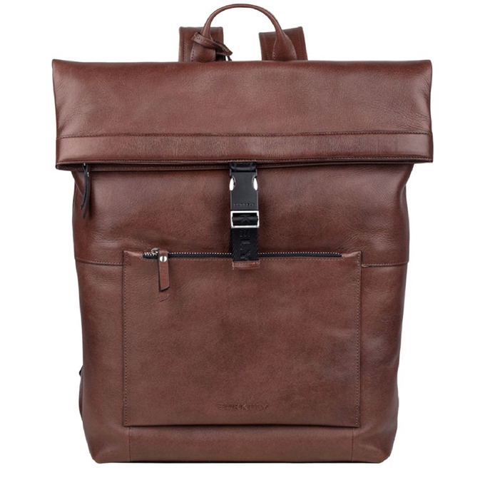 """Burkely Suburb Seth Backpack Rolltop 15.6"""" brown - 1"""