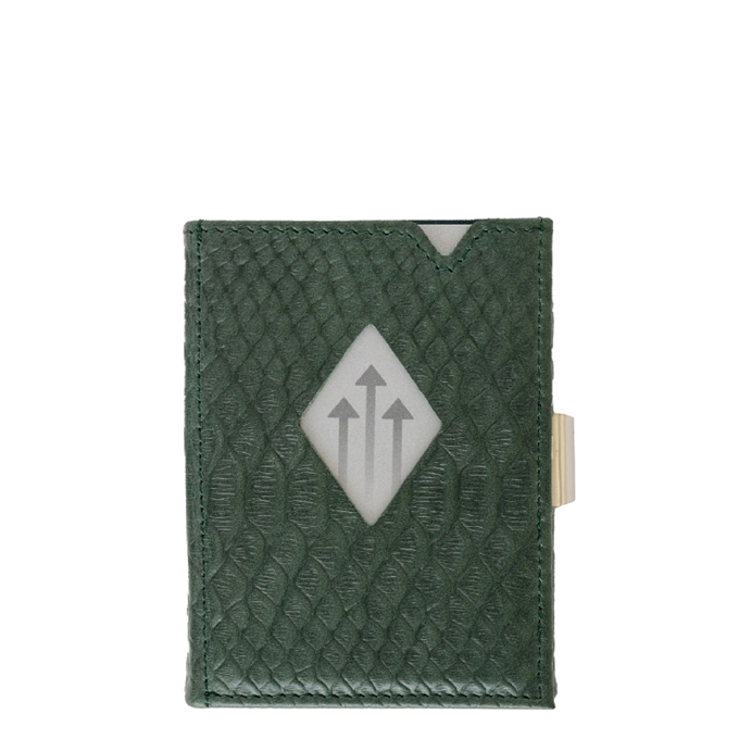 Exentri Leather Wallet RFID green cobra