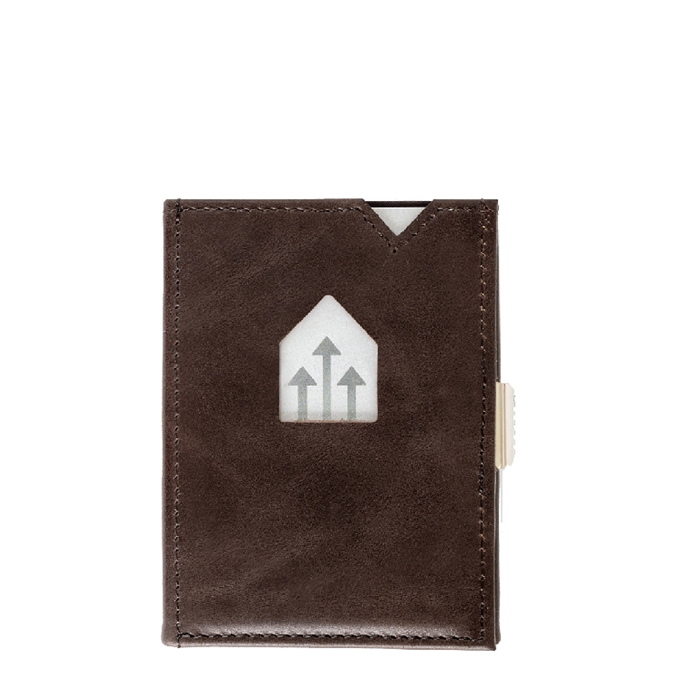 Exentri Leather Wallet RFID coffee - 1