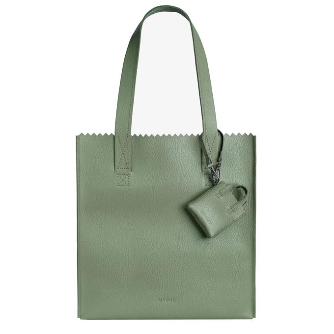 MYoMY My Paper Bag Square Shopper rambler green