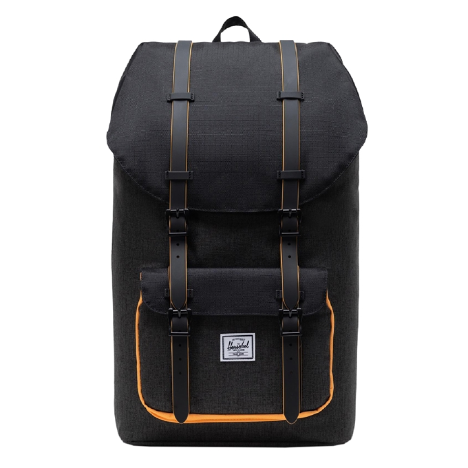 Herschel Supply Co. Little America Rugzak black crosshatch/black/blazing orange