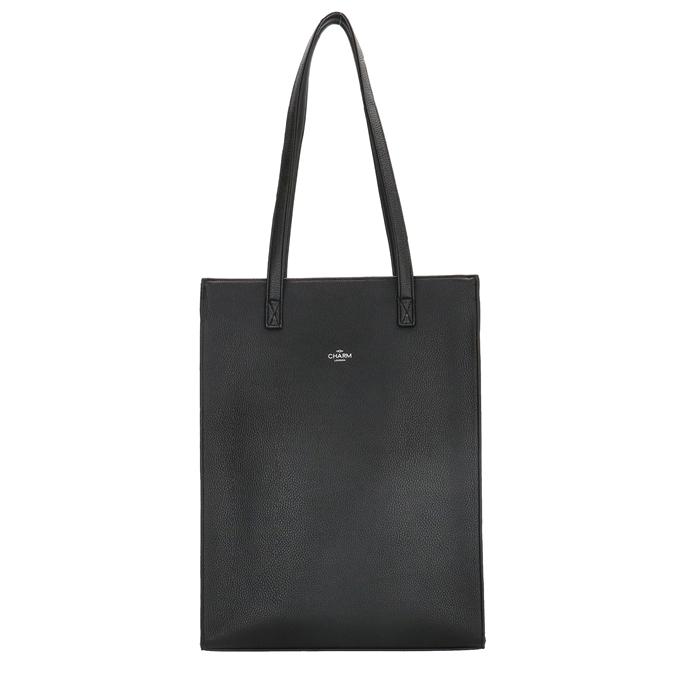 Charm London Stratford Laptop Shopper zwart