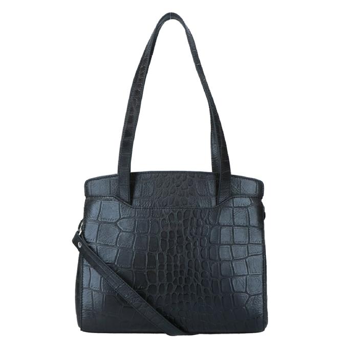 LouLou Essentials Bag XS Vintage Croco black