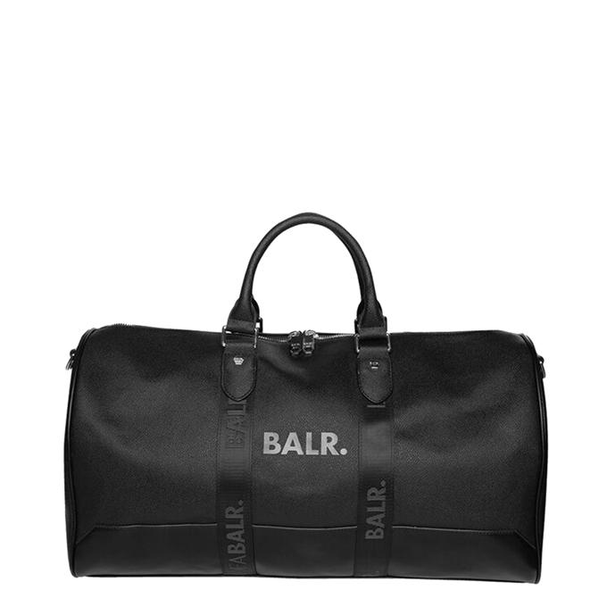 Balr. Pu Leather Weekender jet black