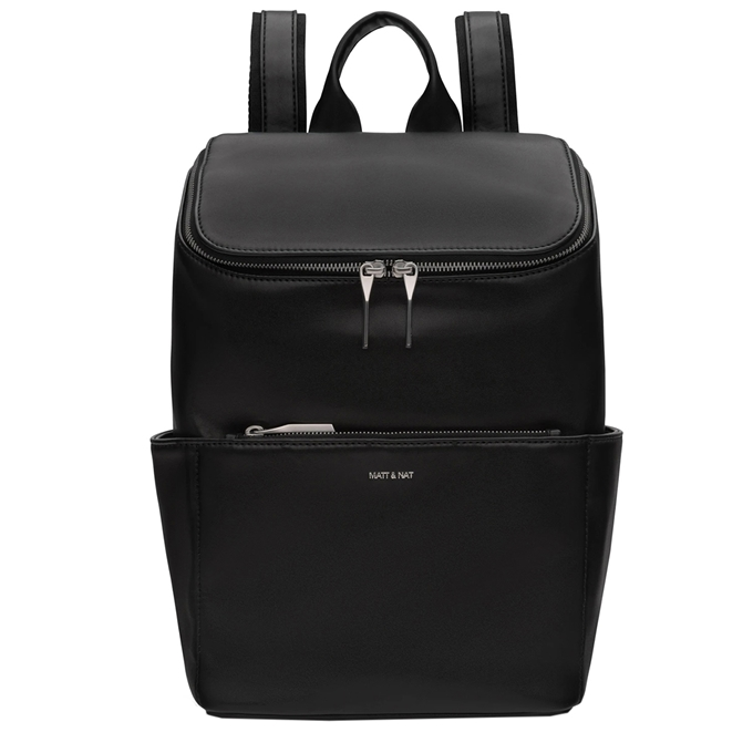 Matt & Nat Loom Backpack black shiny nickel