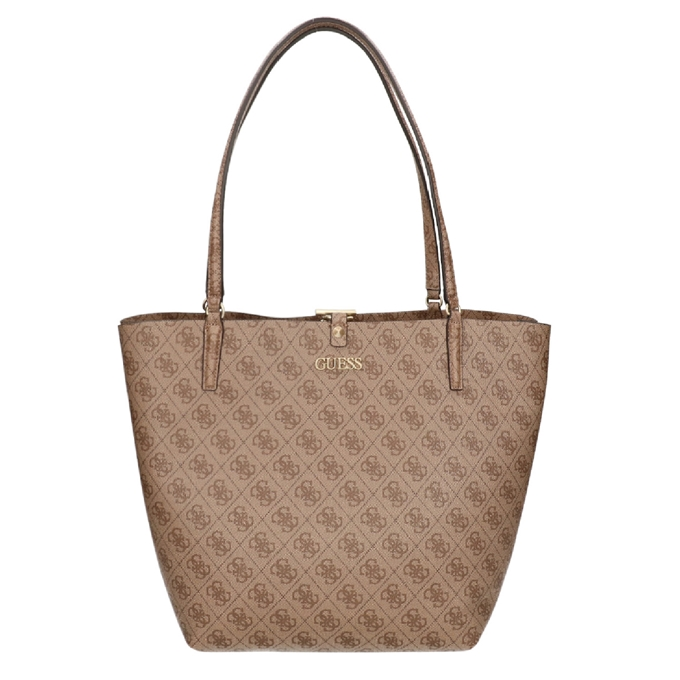 Guess Alby Toggle Tote latte logo