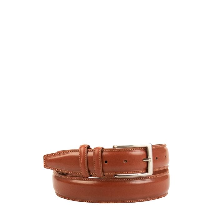 Travelbags The Belt Shiny Verstelbare Leren Heren Riem marrone