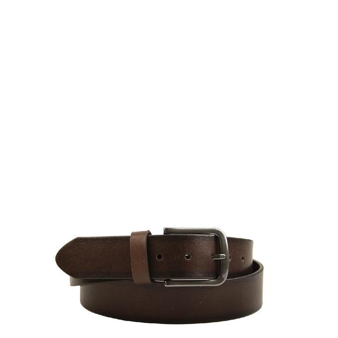 Travelbags The Belt Shade Verstelbare Leren Unisex Riem donker bruin