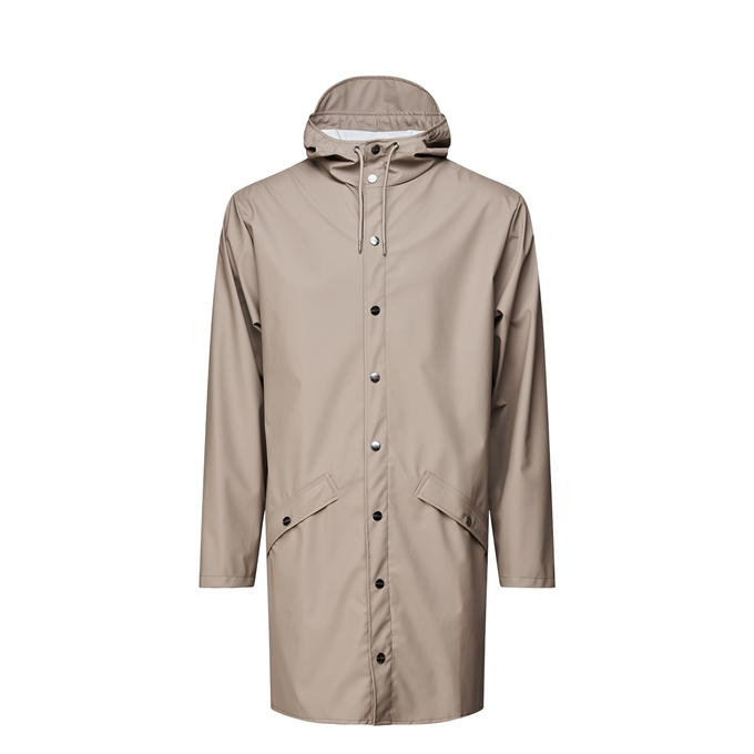 Rains Long Jacket Regenjas M/L taupe