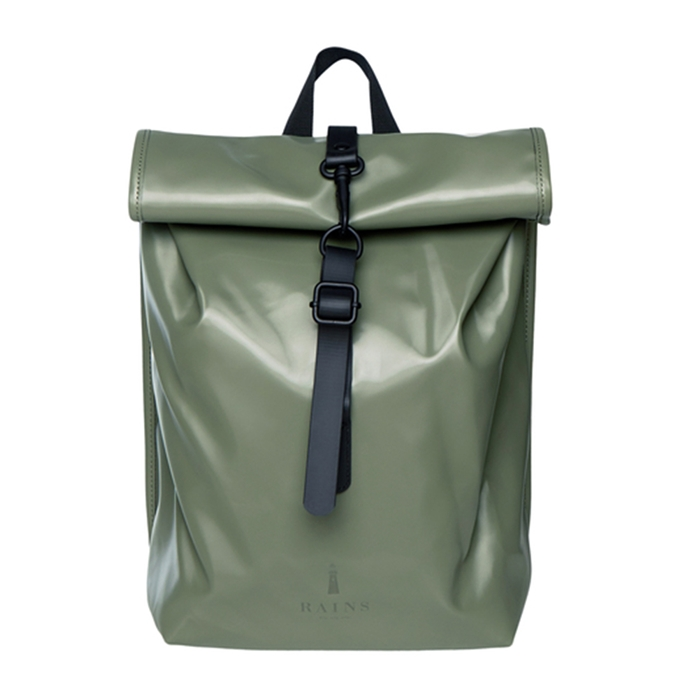 Rains Rolltop Mini shiny olive
