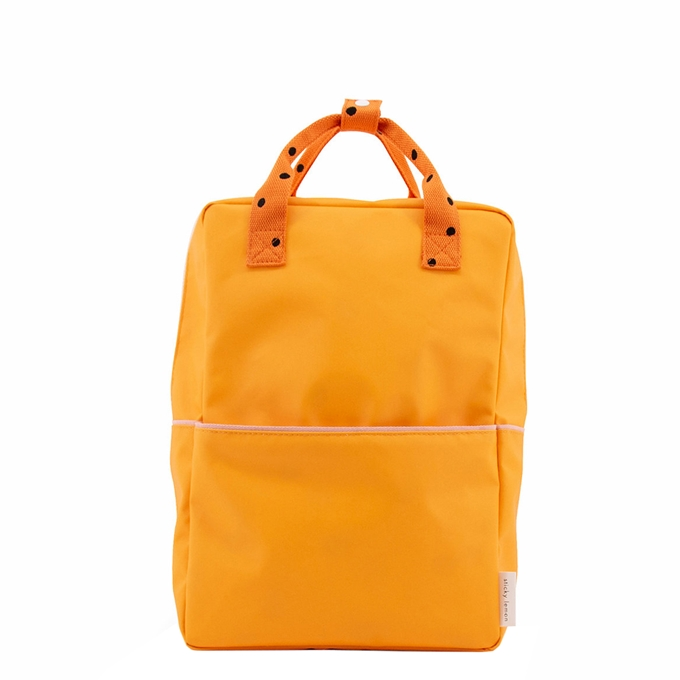 Sticky Lemon Freckles Backpack Large sunny yellow carrot orange candy pink - 1