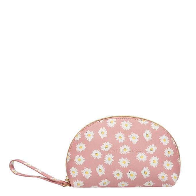 Estella Bartlett Half Moon Make Up Bag Daisy Print blush