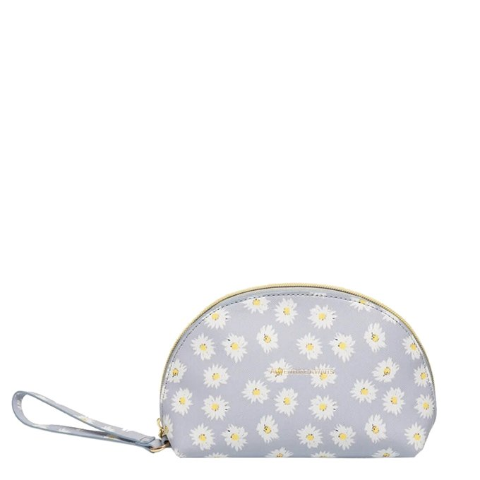 Estella Bartlett Half Moon Make Up Bag Daisy Print blue