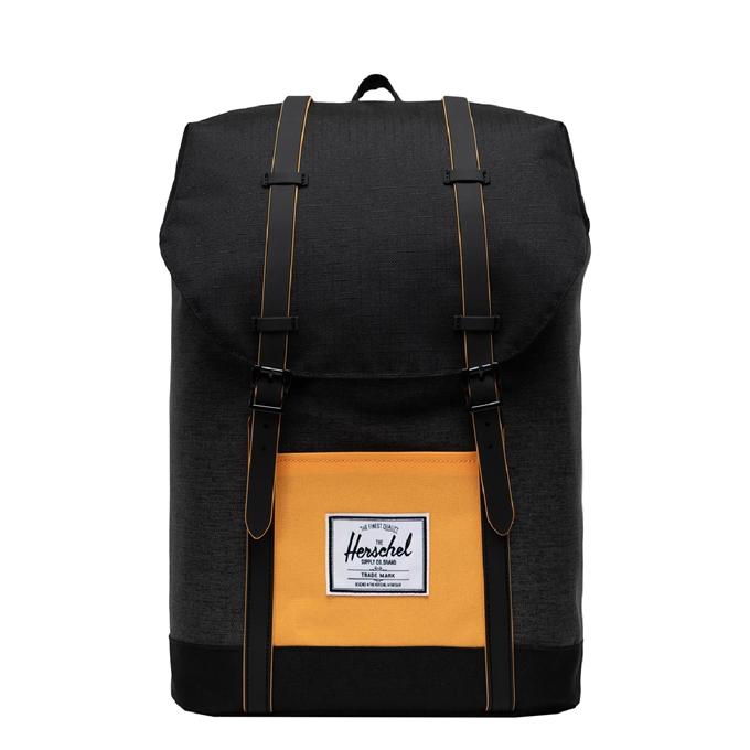 Herschel Supply Co. Retreat Rugzak black crosshatch/black/blazing orange