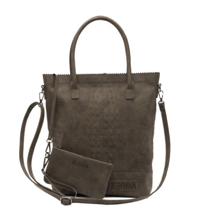 Zebra Trends Natural Bag Kartel XL Rits Croco army - 1