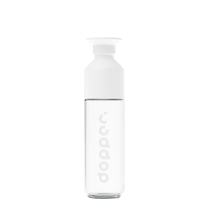 Dopper Glass Drinkfles 400 ml white