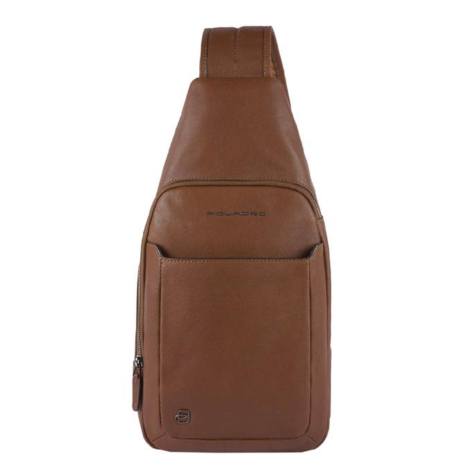 Piquadro Black Square Mono Slingbag with iPad Compartment tobacco