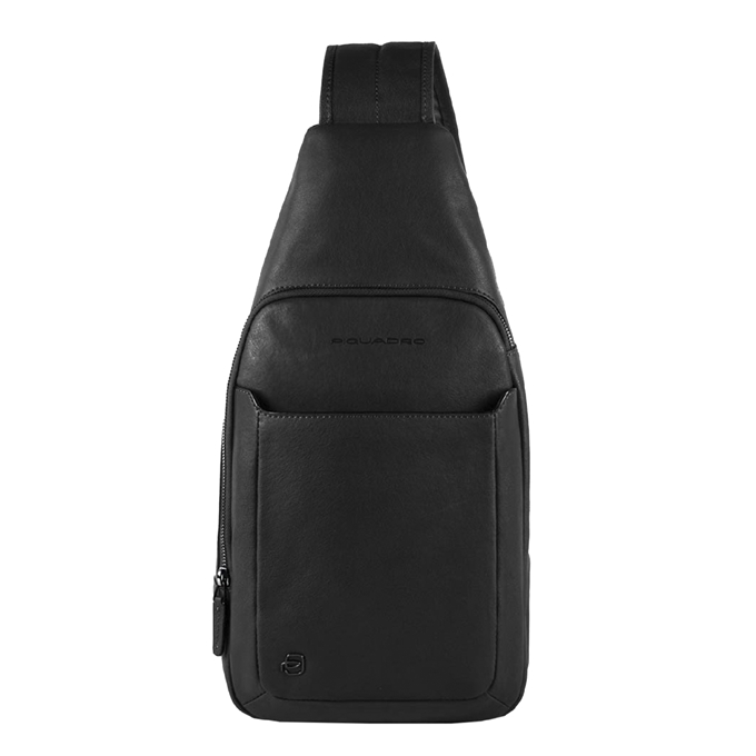 Piquadro Black Square Mono Slingbag with iPad Compartment black