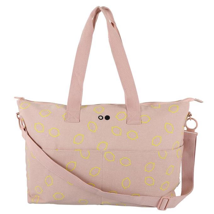 Trixie Lemon Squash Diaper Bag soft pink