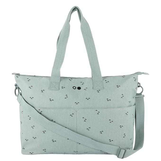 Trixie Mountains Diaper Bag mint green