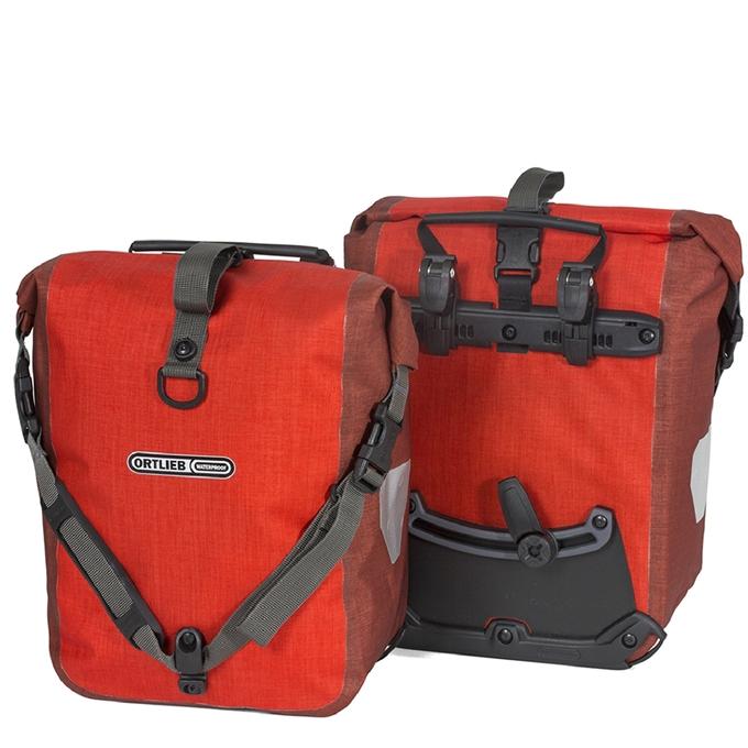 Ortlieb Sport-Roller Plus 25L (set van 2) signal red/dark chili